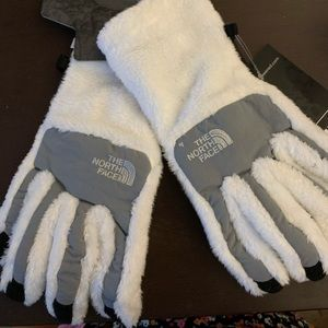 """""""North face"""" Denali thermal gloves white S"""